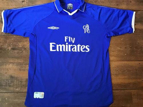 2001 2003 Chelsea Home Football Shirt Medium